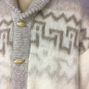 Tundra Sweaters - VTG Tundra M Wool Scandinavian Cardigan Sweater